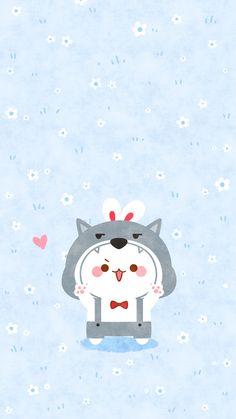 微博 Cute Cartoon Pictures, Couple Wallpaper, Anime Love Couple, Kawaii Wallpaper, Instagram Highlight Icons, Cute Cartoon Wallpapers, Cat Drawing, Cute Bunny, Cute Art