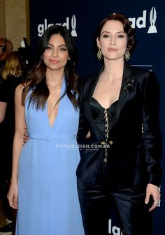 Chyler and Floriana on #GLAADAwards red carpet! tumblr_onrctevv961w7yepeo1_1280.jpg 1,280×1,833 pixels