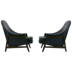 Pair of  Edward Wormley for Dunbar Womb lounge chairs | From a unique collection of antique and modern lounge chairs at http://www.1stdibs.com/furniture/seating/lounge-chairs/