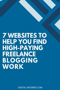Check out this list of 7 popular websites you can use to find high-paying freelance blogging gigs. Online Jobs, Affiliate Marketing, How To Start A Blog, Blogging, Popular, Website, Learning, Tips, Check