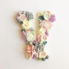 Finished!! A listing has been added to the shop! this ones for you! @nasturchon #floraandpeg #flowermonogram #feltflowerletter #nurserydecor #floraandpeghomedesigns home
