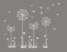 Customer Listing For Sarah  Wall Decal Wall Decal Nursery Flower Vinyl Wall  Decal Dandelion Part 63
