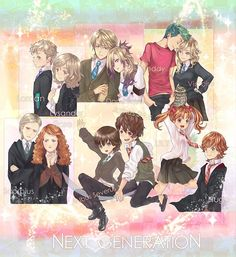 I love these harry potter next generation things if only JK Rowling would write more books. Harry Potter Couples, Arte Do Harry Potter, Harry Potter Puns, Harry Potter Images, Harry Potter Anime, Harry Potter Universal, James Sirius Potter, Albus Severus Potter, Louis Weasley