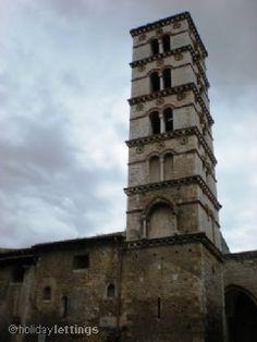 The tower of Saint Maria Churc in Sermoneta