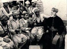 Peshmergas with a priest. Haj Omran, Southern Kurdistan, 1967
