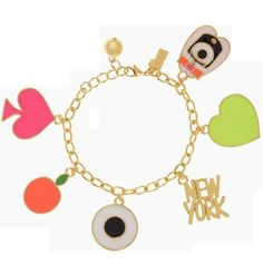 "✨Kate Spade ""how charming"" initial ""F"" charm From the kate spade ""how charming"" line, the initial charm ""F"". Use it for your bracelet, key fob, purse pull, whatever you'd like! 12k gold plated, lobster closure. Price firm :-) (bracelet not included) kate spade Jewelry"