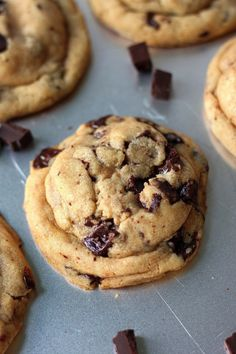 Best Ever Chocolate Chunk Cookies - thick, chewy, and stuffed with chocolate chunks!!! Everyone agrees these are the best!!!!