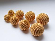 Les bonbons earrings. Four ball earrings. Handmade.