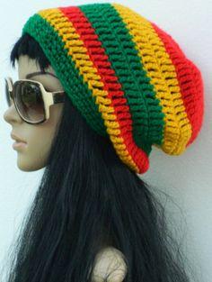 Slouchy Winter  Rasta Hats Locks Hair tubes Dread by nattirootz, $24.00