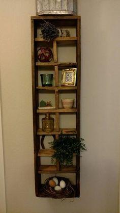 Vintage Handcrafted Wood Shadow Box Knick Knack Shelf