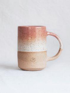 Gradient Mug 16oz - Salmon & White