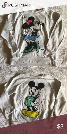 Vintage Style Minnie & Mickey Crewneck Minnie is on the front, Mickey on back. Forever 21 Sweaters Crew & Scoop Necks