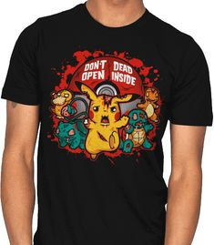 604e4861 zombie pikachu dead inside tshirt unisex for men and women. Clothenvy made  and sale premium t shirt gift for him or her