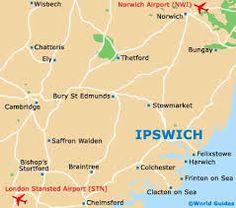 Location of Ipswitch Ipswich England, Bury St Edmunds, Ely, Top Girls, London, Image, London England