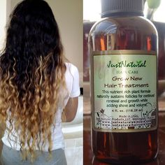 "After way too many years - giving me the hair I've wanted for so long. My hair is actually growing and is much softer. I am obsessive with my hair, I wanted really long. This ""grow new hair treatment"" works very well, and smells terrific. I have been usin Natural Hair Tips, Natural Hair Styles, Natural Oils, New Hair, Healthy Hair Growth, Hair Remedies, Tips Belleza, Hair Health, Hair Loss"