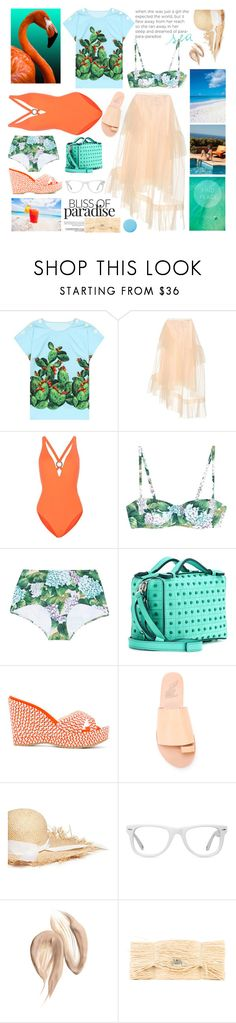"""""""Caribbean Dream (T.S)"""" by sue-mes ❤ liked on Polyvore featuring Dolce&Gabbana, Simone Rocha, Proenza Schouler, Tod's, Jimmy Choo, Ancient Greek Sandals, Gigi Burris Millinery, Muse, MM6 Maison Margiela and Smith & Cult"""