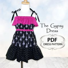 The Gypsy Dress PDF sewing pattern available at Fairytale Frocks & Lollipops.  So chic!