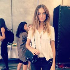 model street style backstage at tibi {see even more behind-the-scenes pics in our fashion week photo diary!}