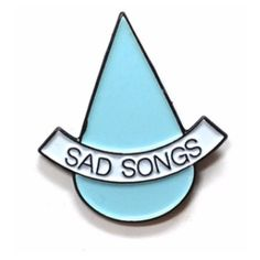 Stay Home Club Sad Songs Lapel Pin (30.825 COP) ❤ liked on Polyvore featuring jewelry, brooches, fillers, pins, accessories, extras, pin brooch and pin jewelry