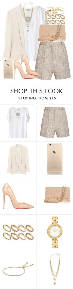 """Untitled #3436"" by hellomissapple on Polyvore featuring American Vintage, Rochas, Christian Louboutin, Chanel, ASOS, Fendi, CO, Michael Kors, Vince Camuto and women's clothing"