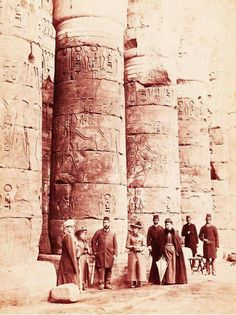 Karnak Temple in Egypt in 1891.