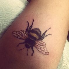 Brilliant Bumble Bee Tattoo. Click to learn more about how you can become a tattoo artist.