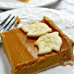Pumpkin Slab Pie