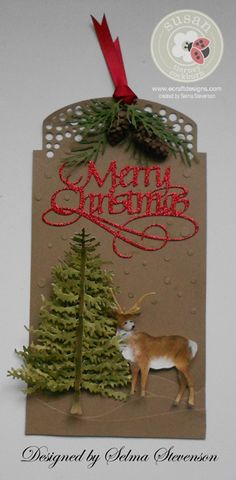 Selma's Stamping Corner and Floral Designs: Masculine Christmas Tag