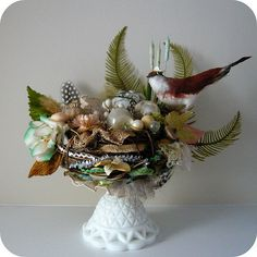Autumn Nest on Pedestal by Katie Runnels, via Flickr