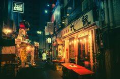 Tokyo by Night Tokio bei Nacht Photo taken by Masashi Wakui