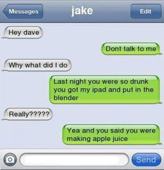 Funny text - So drunk last night - http://www.jokideo.com/