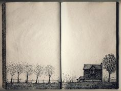 I often find myself drawing this imaginary home.