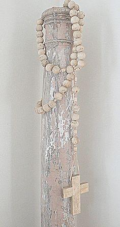 My new Rachel Ashwell Shabby Chic Couture Rosary~ I love it!!   www.shabbychic.com