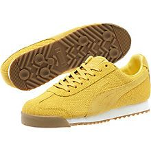 The Roma is the stuff of PUMA Archive legends with its sport-turned-street style. The original, which debuted in 1968, was geared for sprints, hurdles, and sweatbands with its padded nylon-suede styling and knack for collecting medals. It's reissued here in all its glory (less the tube socks), and is fully equipped with a padded tongue and arch support for everyday wearing.  Features:    Textured leather upper  T-toe construction  Lace closure for a snug fit  Cushioned midsole with…