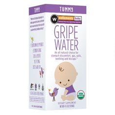 NATURAL FOR BABY'S COLIC: Wellements Organic Gripe Water for Tummy, 4 Fluid Ounce: Health & Personal Care (we've  seen 4 generations of use!)