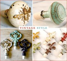 """Gift Idea: Creative Wine Bottle Stoppers. -- Perfect small gift for the bride and groom who """"have everything"""" they need"""