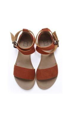 Dark orange sandals Bensimon