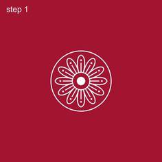 Bengal Rangoli Step 1