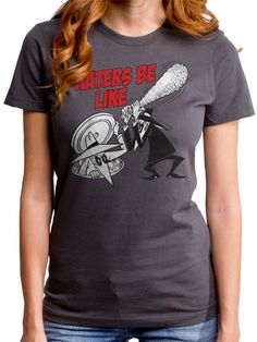 """Women's """"Haters Be Like"""" Tee by Goodie Two Sleeves (Charcoal) #inkedshop #haters #cartoon #fashion"""