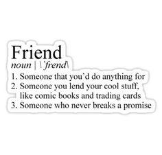 Stranger Things Friend Definition Sticker