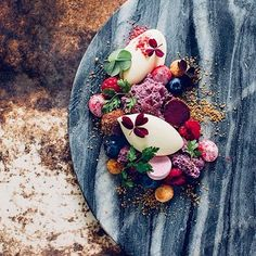 Blueberries, raspberries, yogurt & almonds. By @sodersgourmet / by @lemonandtwist #DessertMasters