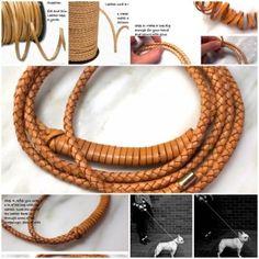DIY Braided Leather Dog Leash 1