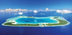 Just 30 miles north of Tahiti, Tetiaroa is an atoll comprised of a dozen idyllic motus (or islets) surrounded by a spectacular lagoon that is 4.5 miles wide and 100 feet deep.