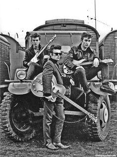 SO COOL!!!... George Harrison, Stu Sutcliffe, and John Lennon in Hamburg, Germany, 1960  by Astrid Kirchherr