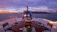 @TechnoCraftsl's #SuperYachtOfTheWeek: #MYPalladium 96m custom built by  Blohm and Voss Shipyard | Exterior deck | Heli-pad. Photo credit to: Michael Leach Design. www.technocraftsl.com #helipad #luxury #marinescaffold #yachtcover #megayacht