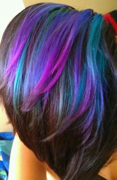 pink and purple foils hair - Google Search