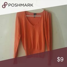 H&M Sweater Pre-loved but has more life left. Pretty orange color. Size 10 H&M Sweaters V-Necks