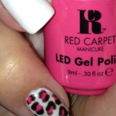 Followed leopard tutorial @red carpet manicure
