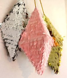Pyramid Pinatas set of 3 by KatieKFranklin on Etsy