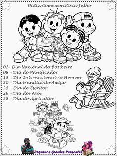 Datas Comemorativas  Julho  - Educação Infantil
